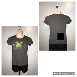 Lime green and gray t-shirt